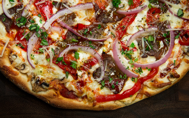 Red Pepper Steak - Gourmet Pizza